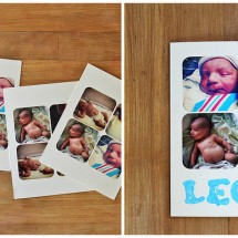 DIY: Sticker Birth Announcements