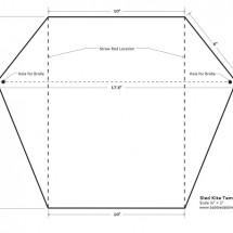 Sled KiteTemplate-BABBLE DABBLE DO