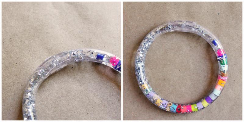 Totally Tubular Glitter Bracelet Steps Collage | BABBLE DABBLE DO