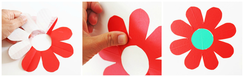 Flower Power Wall Decals adhering to wall BABBLE DABBLE DO