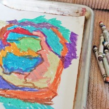 Art for Kids: Melted Crayon Art