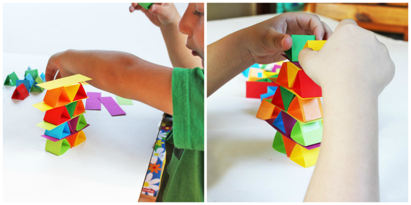 Science for Kids: Paper Building Blocks