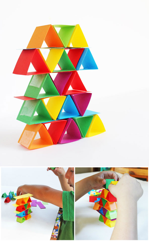 Engineering for Kids: Make building blocks out of paper! Great way to illustrate how shape affects strength.