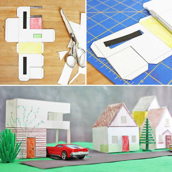 Design for kids paper houses babble dabble do for Building a craft room