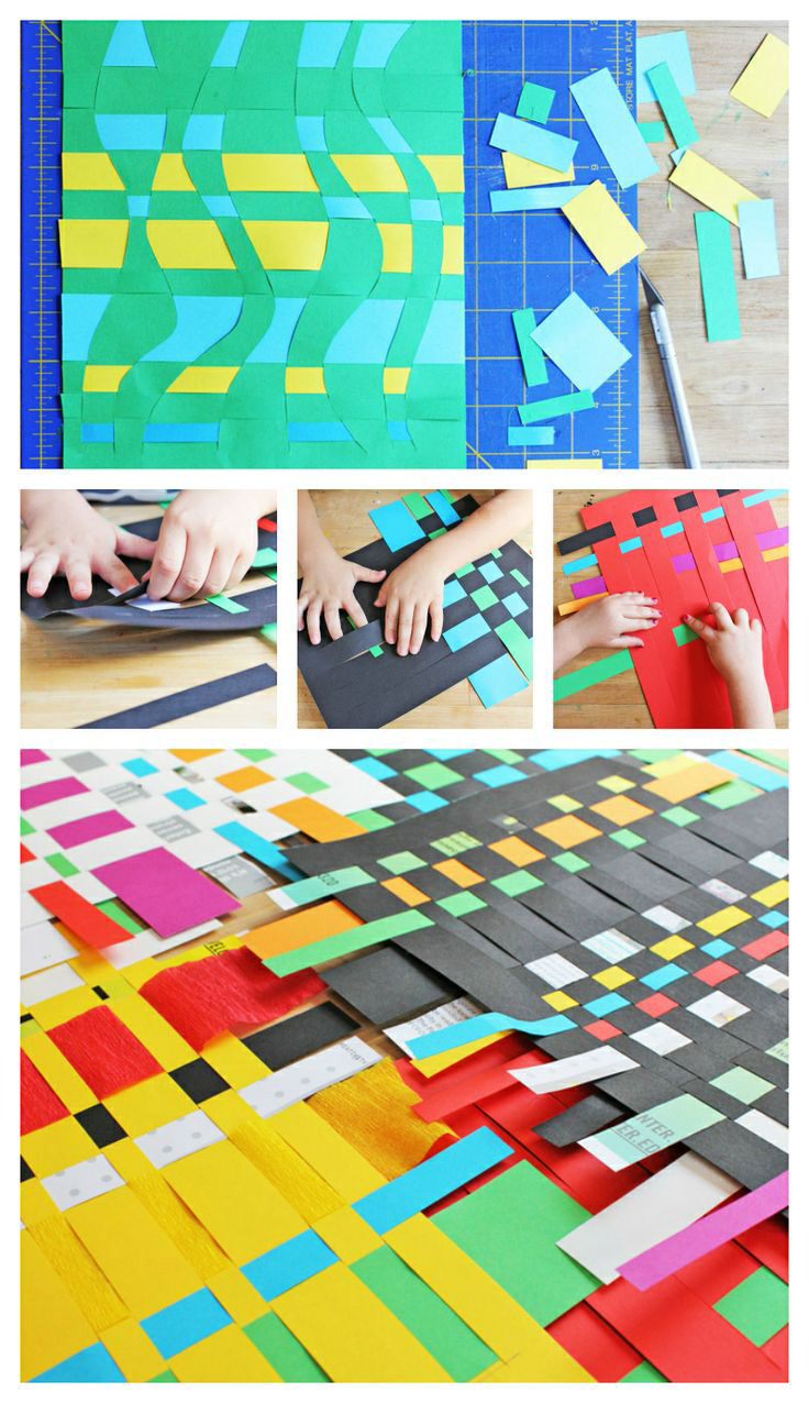 Classic Art Project for Kids: Paper Weaving  | BABBLE DABBLE DO