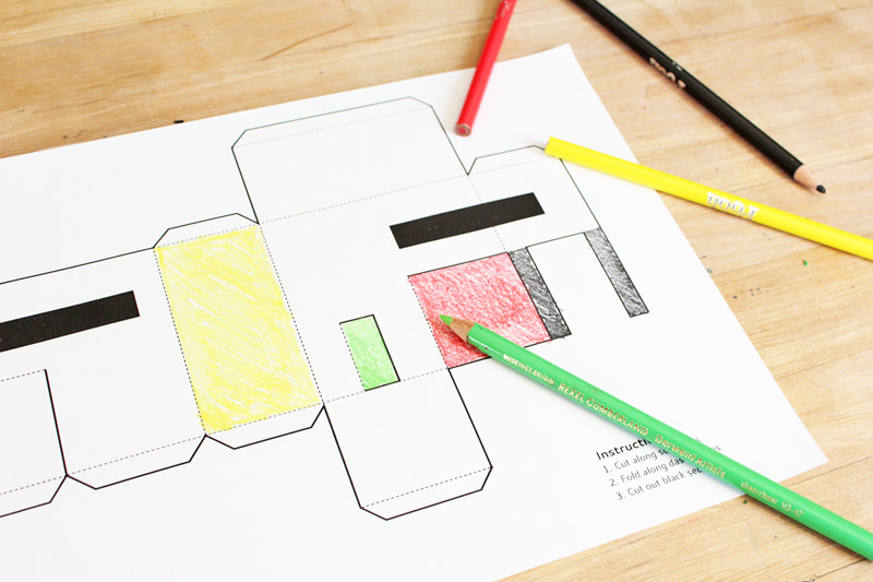 Fun Paper Craft for Kids: 3 Templates for PAPER HOUSES you can print, cut, and decorate!