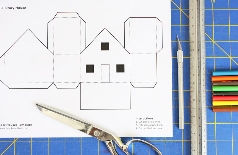 Design for Kids: Paper Houses BABBLE DABBLE DO