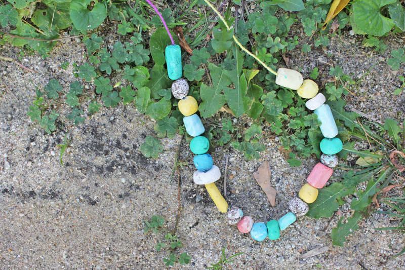 Seed Bomb Necklaces: Make mini seed bombs into beads!
