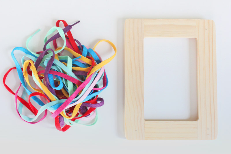 Frame Lacers are a colorful DIY toy that doubles as a great fine motor skills activity for kids. BONUS: You can make them in about 30 minutes for about $4 each.