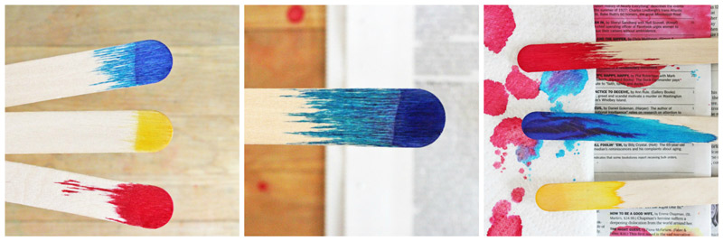 Easy Art & Science for Kids: Make Dip Dyed Craft Sticks and explore color mixing