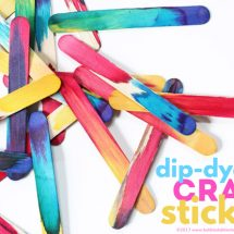 Science Art Idea: Dip Dyed Craft Sticks Project