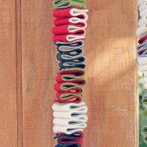 "Holidays: ""Ribbon Candy"" DIY Felt Garland"