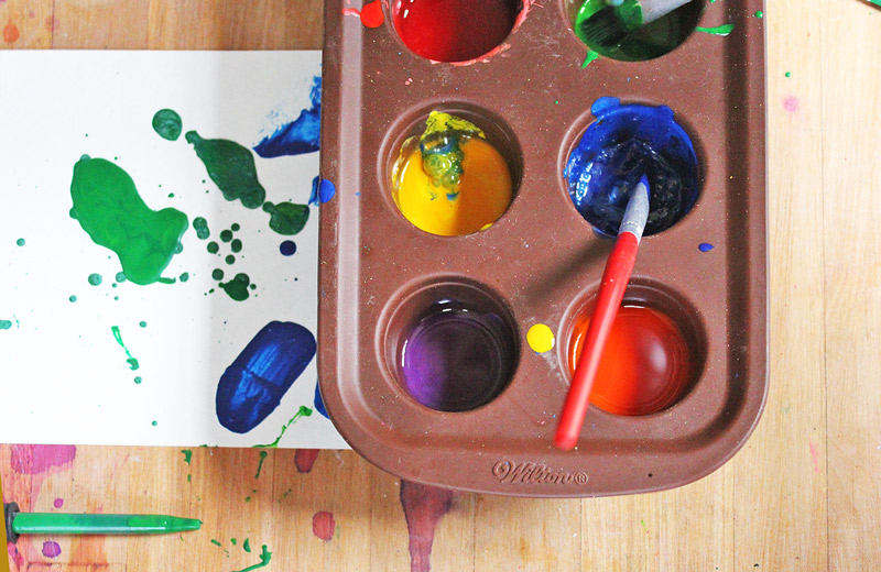 Easy art for kids crayon painting babble dabble do for Painting projects