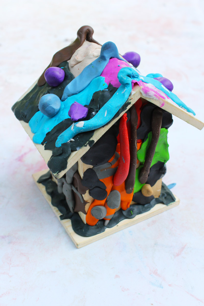 Art projects for kids clay houses babble dabble do for How to make ceramic painting
