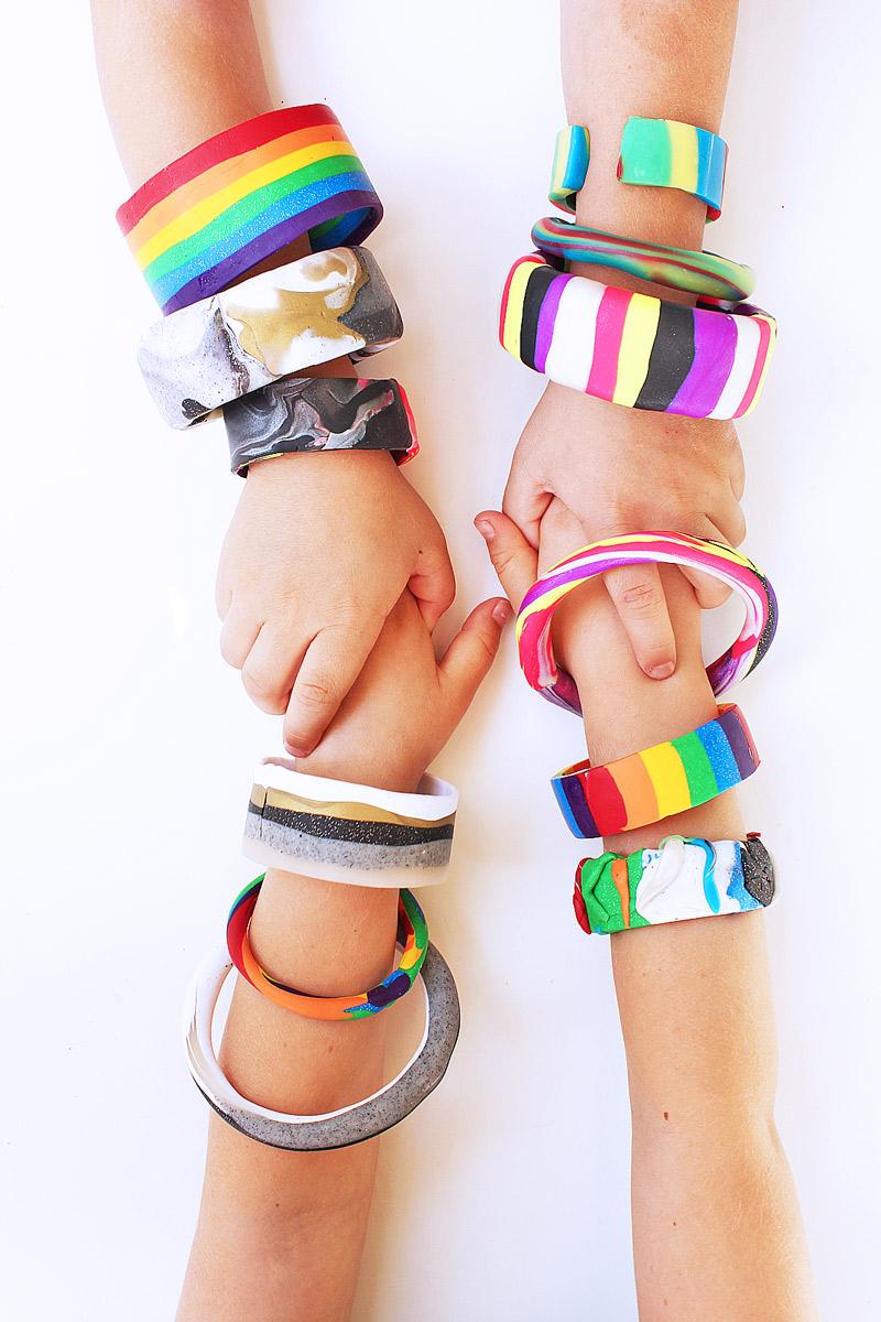 Polymer Clay Tutorial: 6 Ways To Make Clay Bracelets