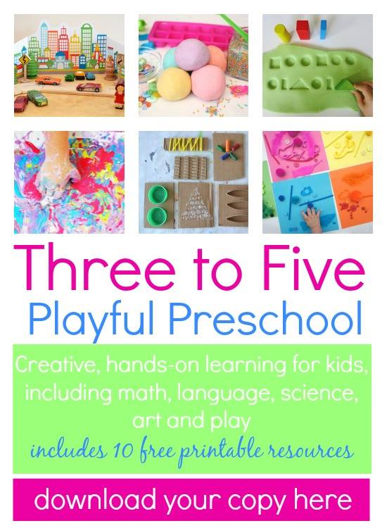 Number Names Worksheets preschool color chart : Three to Five: Playful Preschool E-Book - Babble Dabble Do