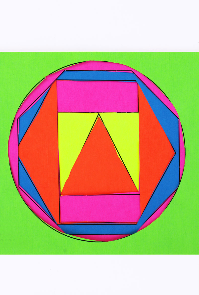 Shape Art : Math book art my shape activities for kids