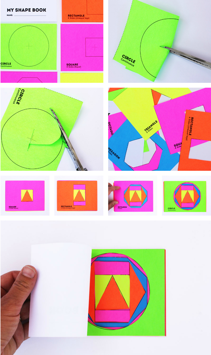 Math Book Art Shape Book Shape Activities For Kids on Triangle Shape Coloring Page