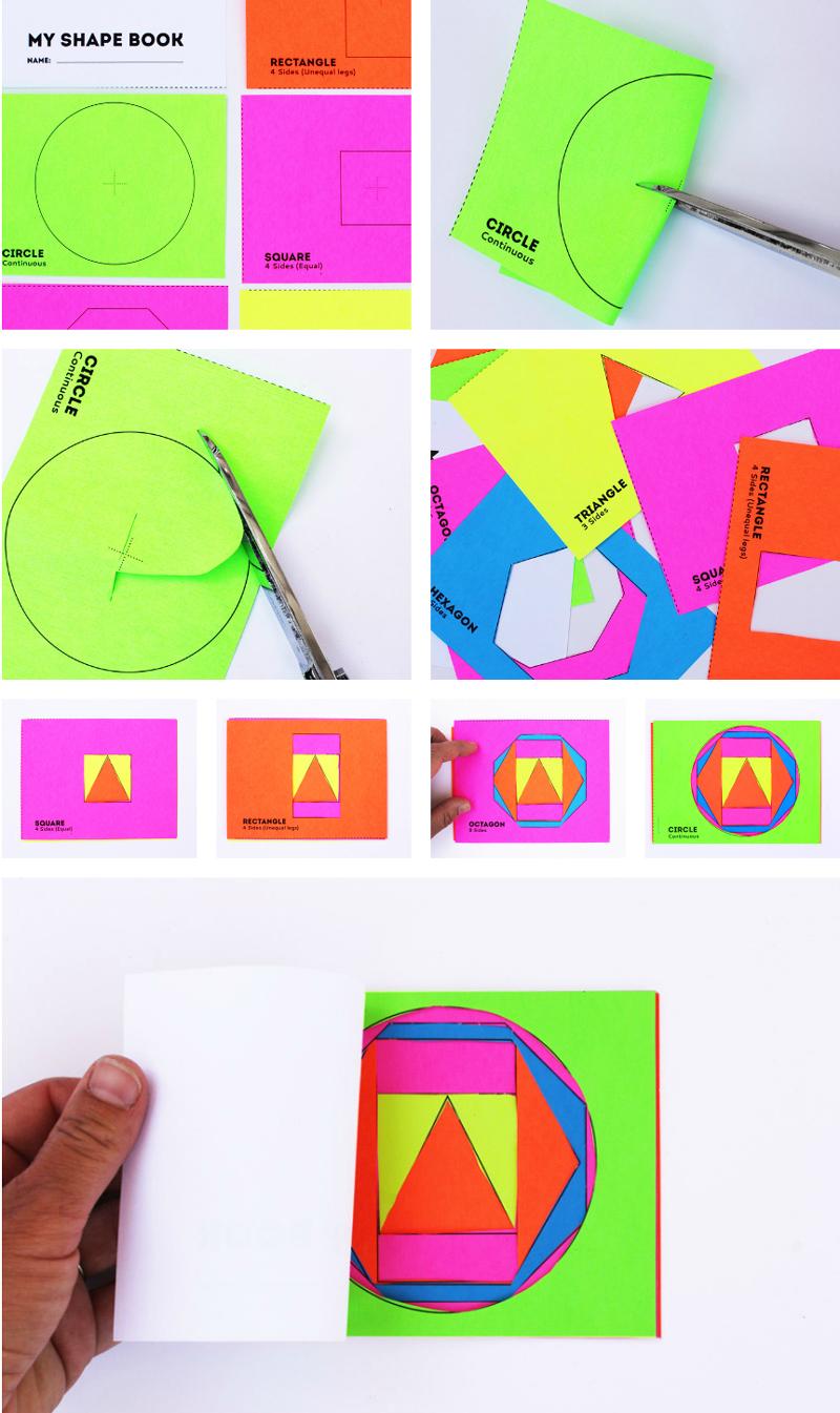 Math book art my shape book shape activities for kids for How to make online art