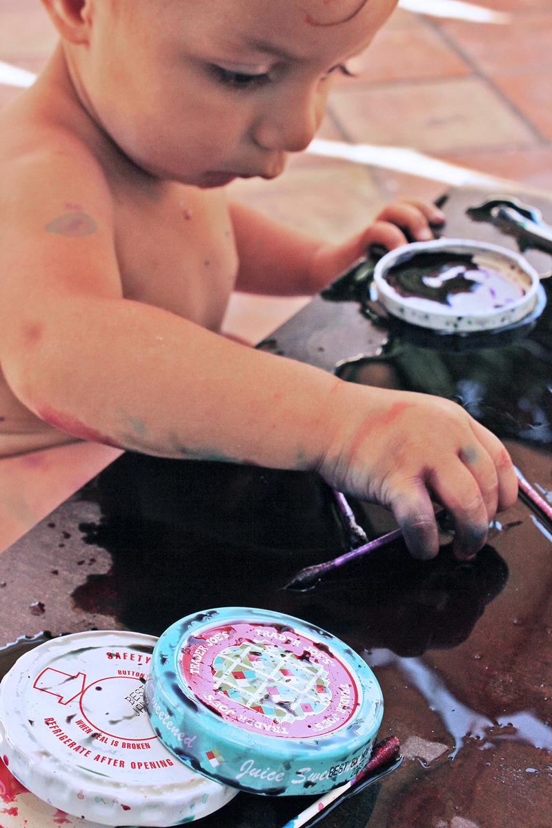 Easy Art Activities for Kids: Styrofoam Patterns   BABBLE DABBLE DO