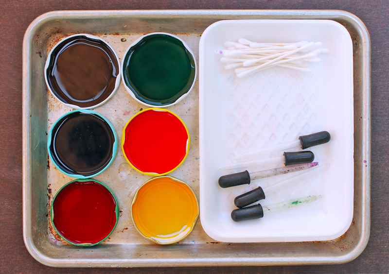 Easy Art Activities for Kids: Styrofoam Patterns   BABBLE DABBLE DO  Recycle Styrofoam trays to create a simple activity exploring color and pattern