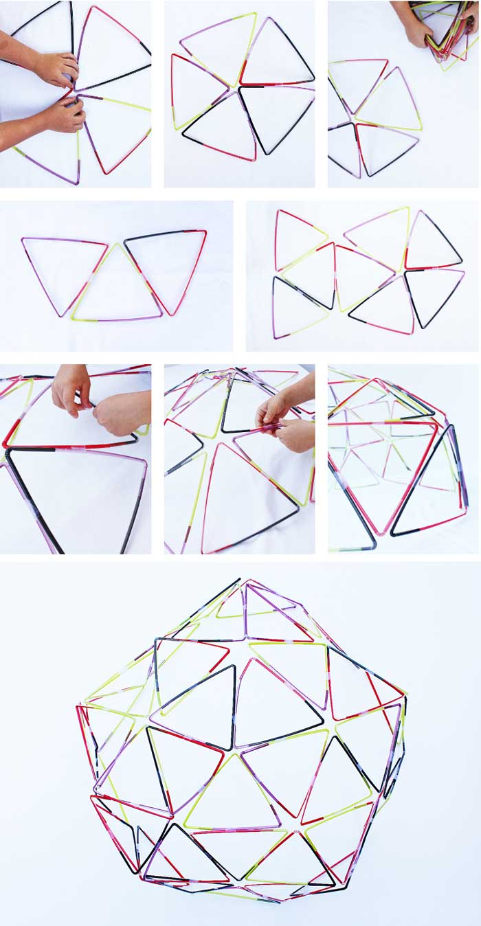 Learn how to make simple straw structures! Fun STEAM activity for kids!