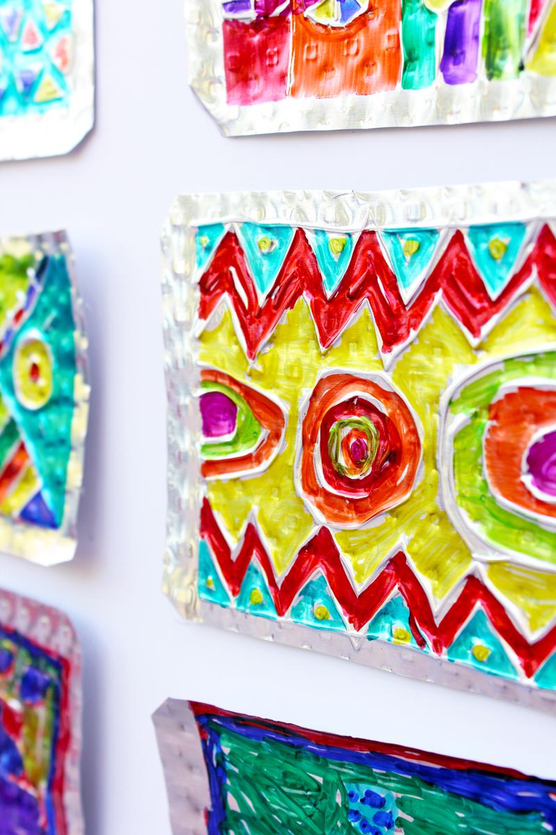 Folk art project for kids hojalata tin art babble for Cool art ideas for kids