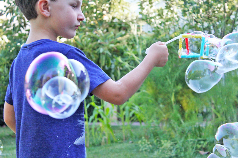 STEM Activities: Make geometric bubbles that illustrate tensile structures to kids