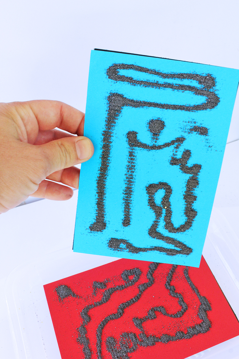 Science & Art Ideas for Kids: Explore magnetism through art using iron filings and magnetic sheets.