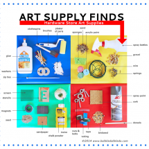 Art Supply Finds: 30+ Art Supplies From the Hardware Store (and cool stuff to make with 'em)