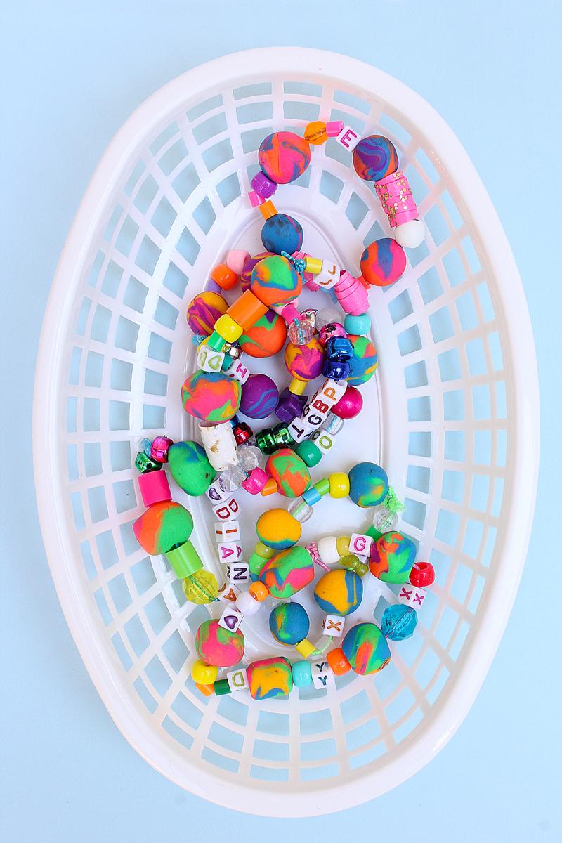 Back to School Craft: Eraser Bead Bracelets