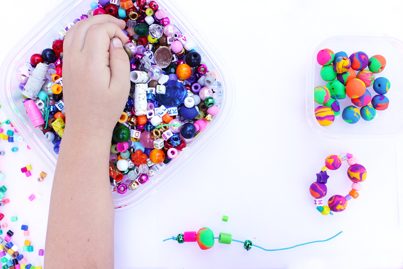 Back to School Craft: Eraser Bead Bracelets