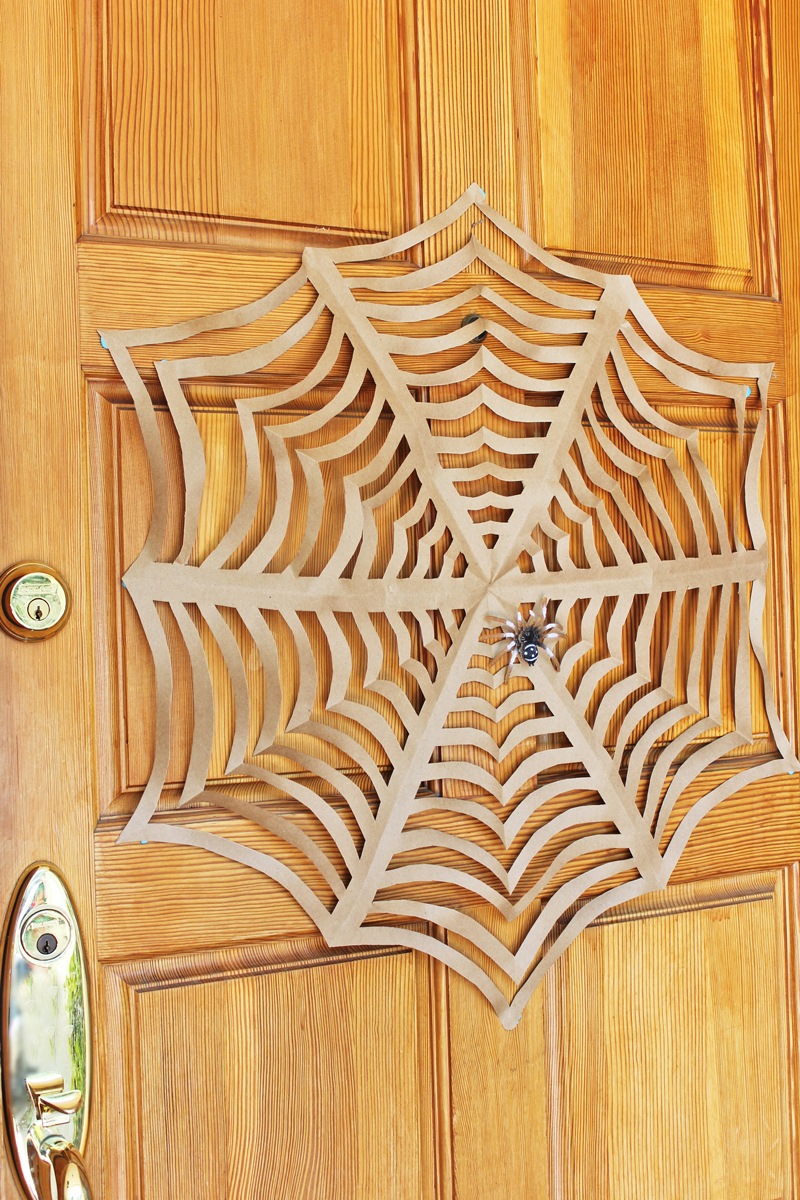 Halloween Craft: GIANT Kirigami Spider Webs - Babble Dabble Do