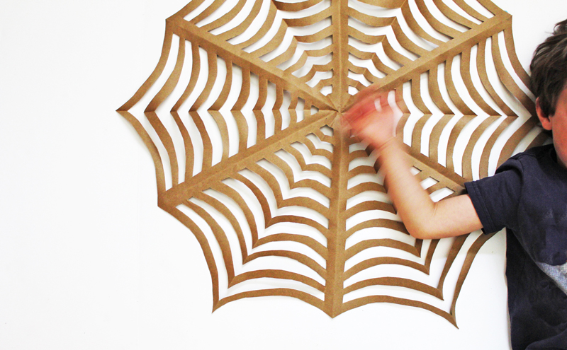 Halloween Craft: GIANT Kirigami Spider Webs