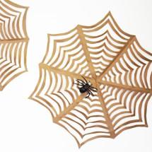 Halloween Craft: GIANT Kirigami Spider Webs