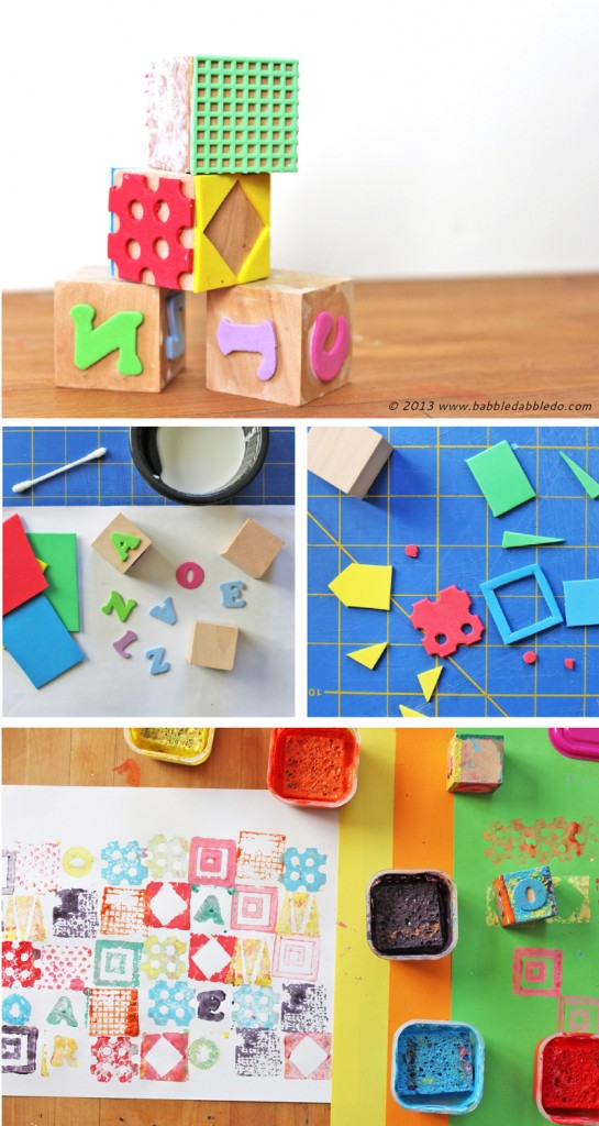Learn how to make a stamp using fun foam and a wood block.