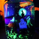 Thumbnail image for Halloween Crafts: Glow in the Dark Terror-arium