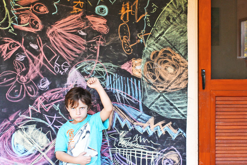 Chalk Fabric Activity For Kids