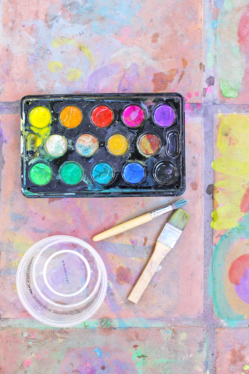 Easy Watercolor Ideas For Kids Easy Art Ideas For Kids