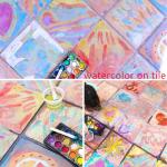 Easy Art Ideas for Kids: Watercolor on Tile