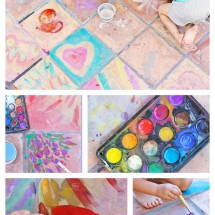 Easy Art Ideas for Kids: Watercolor on Tile