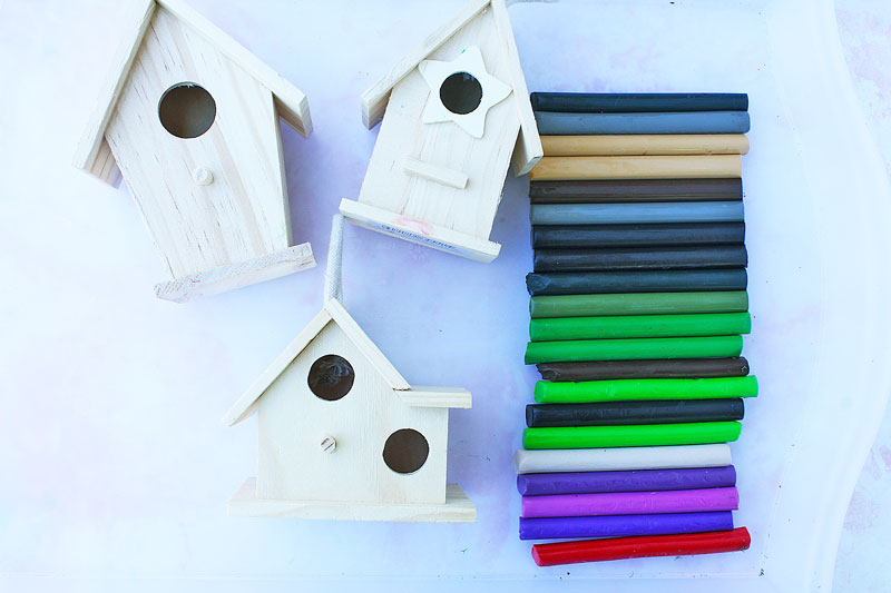 Halloween crafts for families: Make DIY haunted mini mansions using $1 wood birdhouses and clay