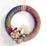 Thumbnail image for DIY Wreath:  Fall Yarn Wreath Tutorial