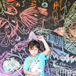 Easy Art Activities for Kids: WASHABLE GRAFFITI