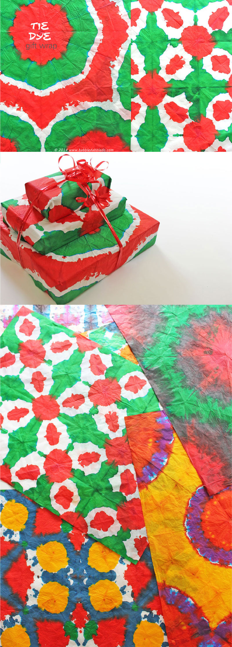 DIY Gift Wrapping Ideas: Tie Dyed Gift Wrap