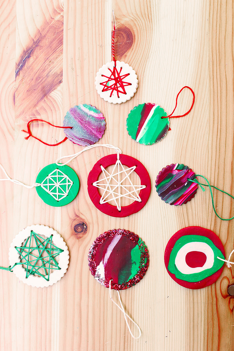 Homemade christmas ornaments with polymer clay babble for Homemade christmas ornaments to make