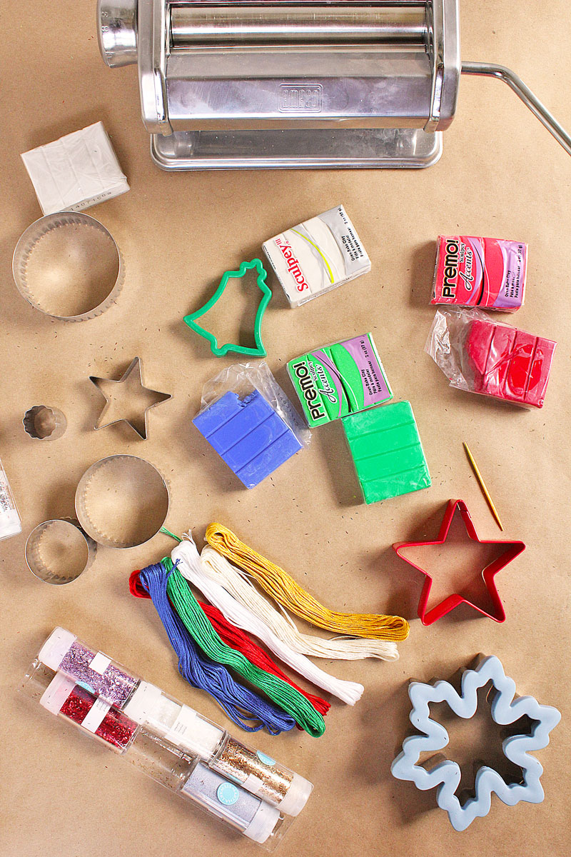 Ways to make homemade christmas ornaments with polymer clay