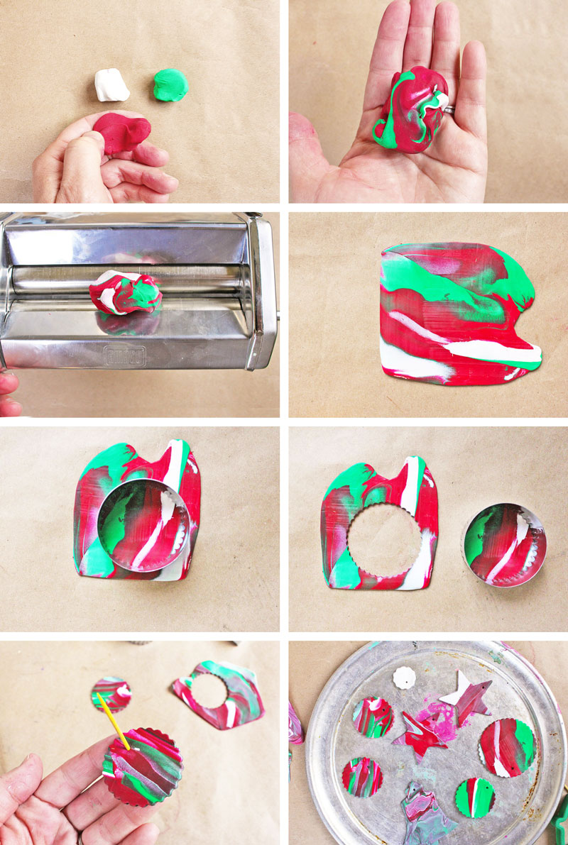 Homemade christmas ornaments with polymer clay babble for Handmade decoration things step by step