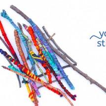 Easy Crafts for Kids: Yarn Sticks