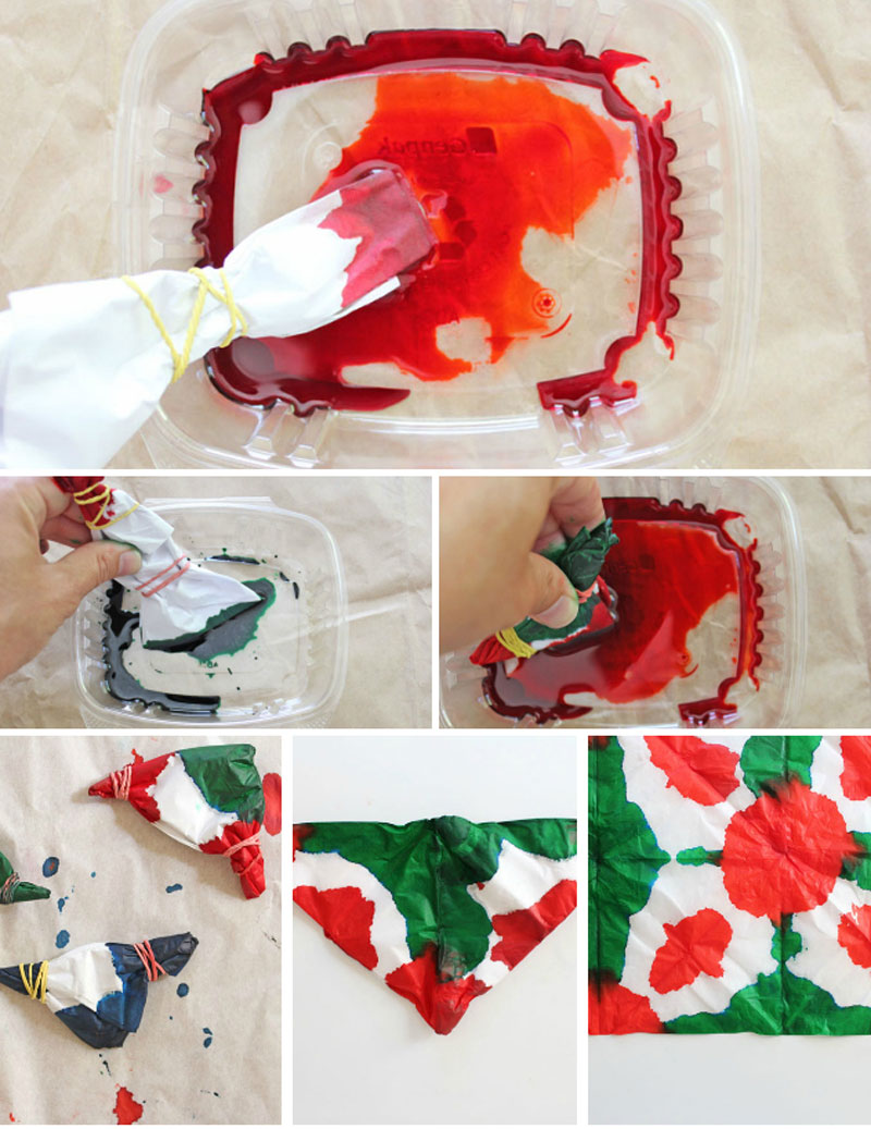 Diy gift wrapping ideas tie dye gift wrap babble dabble do for Diy colored paper